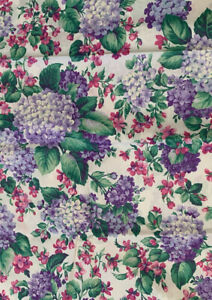 Vintage Hydrangeas Colorful Floral Cotton~Concord Fabrics by the Kesslers~1+ Yd.