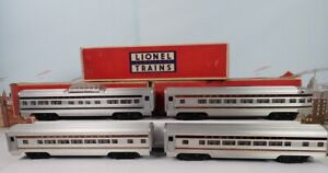 Vintage Postwar Lionel O Aluminum Congressional Passenger 4 Car Set 2540 Series