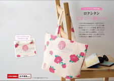Fashion L'Occitane Sweet Rose Canvas Tote Shopper Shoulder Handbag Bag