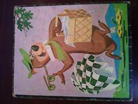 Vintage 1961 Yogi Bear Puzzle, Cardboard, Hanna Barbera Productions
