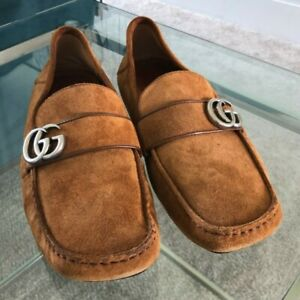 Gucci GG Marmont Noel Crushback Driving Loafers