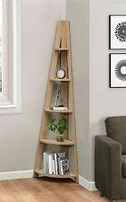 Birlea Nordic Scandinavian Retro Corner Ladder Bookcase Shelving Shelf Unit Oak