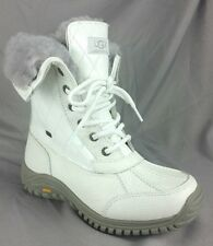 UGG Australia Adirondack II Quilted White Bella Winter Snow Boots Women's 7   a1