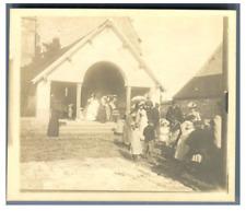 France, Crisenoy, Baptême de Jacques Courcier. Distribution de dragées  Vintage