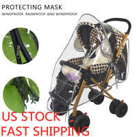 Clear Baby Stroller Rain Cover Wind Dust Shield Fit Most Canopy Pushchair US
