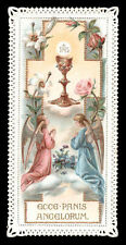 old holy card lace canivet merlettato*ECCE PANIS ANGELORUM