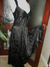 "Monsoon ""Rosie"" Stunning Silk DevoreLBD  Dress 16 EU44  Black BNWT RRP £95"