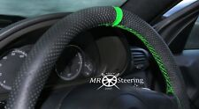 FOR RENAULT MASTER PERFORATED LEATHER STEERING WHEEL COVER + GREEN STRAP 1997-10