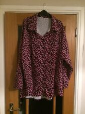 Pink & Black Leopard Print Oversized Shirt From Boohoo, Size 22-24