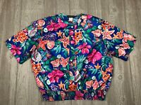 VTG Women's Notations Blouse Shirt Top Floral Size Large