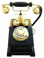 Home Decor Brass Antique Replica Rotary Dial Candlestick Functional Phone Gift