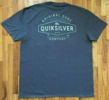 Quicksilver LOGO Front & Back Brown Short-Sleeve Shirt Men's Size Small