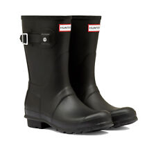 WAREHOUSE SALE New Ladies Short Hunter Wellies Wellington Boots Black Size 5