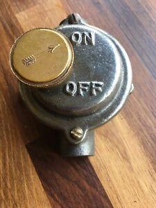 Vintage Industrial Simplex Switch Cast Iron & Brass 1930/40s Rare!
