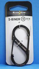 S-BINER EDELSTAHL Größe #3 Nite Ize U.S.A. 7 cm S-Biner Gr. #3 BLACK