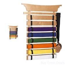 Martial Arts 8 Belts Holder Rack Wall Display Karate Mma Box Organizer Storage