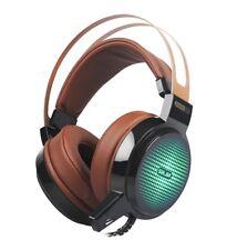 casque avec microphone led lumière Salar C13 Filaire Gaming pc ordinateur
