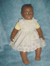 "18""-Vtg-1970-70s-Black African American Googly Flirty Eyes Move-Gerber Baby Doll"