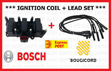 GENUINE FORD FALCON EF AU I BOSCH IGNITION COIL PACK BOUGICORD IGNITION LEAD SET