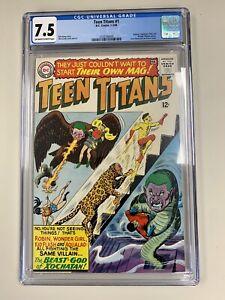 Teen Titans #1 CGC 7.5 1966 | Key Silver | Superman | Batman | + FREE DC Comics