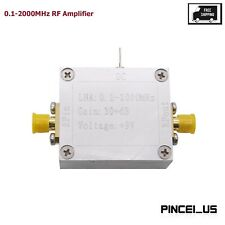 0.1-2000Mhz Rf Wideband Amplifier Low Noise Rf Amp Gain 32dB High Frequency pc66