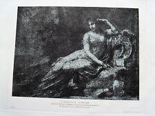 1m48 Gravure estompe et crayon noir de Prud'hon, l'impératrice Joséphine