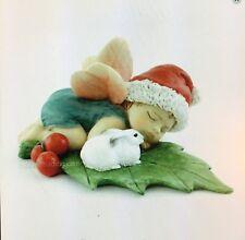 Miniature Fairy Garden,Terrarium Christmas Fairy Baby sleeping with Bunny