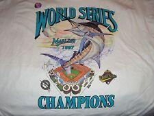 ViNtAgE 1997 FLORIDA MARLINS WORLD SERIES MBL CHAMPIONS BASEBALL T SHIRT + BONUS