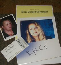MARY CHAPIN CARPENTER Autographed Card & Photos  -REAL HOT