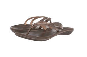 Women's Shoes OluKai U'I Casual Leather Thong Sandals 20245-8148 BRONZE
