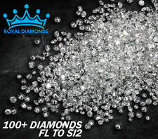 100% Natural Loose Round Single Cut 100 Diamonds FL-SI2 D-H(White) Star Polished