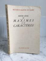 Maurice Martin de La Gard Petite Suite Máximas Y De Flammarion 1944