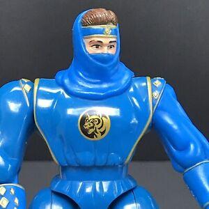 "Mighty Morphin Power Rangers Blue Ninja Ranger 5"" Action Figure MMPR Bandai"