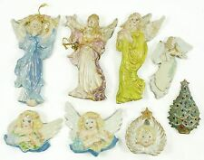 Vintage Ceramic Angel Tree Christmas Ornament Holiday Decoration Lot Lightcover