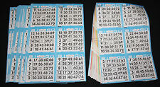 BINGO PAPER Cards sheets 6 on 10 up Blue Bdr 25 packs 1,500 faces FREE SHIPPING