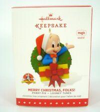 Hallmark keepsake ornament - Looney Tunes - * Musical * Porky Pig Wreath 2015