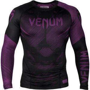 Venum No-Gi 2.0 Long Sleeve MMA Compression Rashguard - Black/Purple