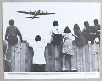 Rare Vintage 11x14 Photograph German Children Watching Air Force Transport Plane