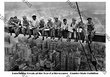 Iconic Image of Workmen (Lunch atop a Skyscraper) Empire State Building Large