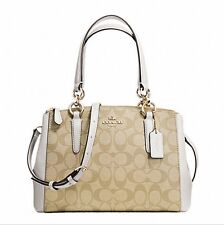 New Coach Mini Christie Carryall F36704 F36718 Signature With Gift Box NWT