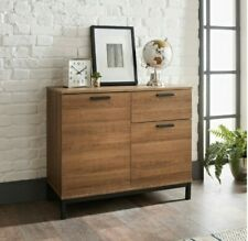 Detriot Large 2 Door 1 Drawer Sideboard Brown Oak Cupboard TV Cabinet Furniture