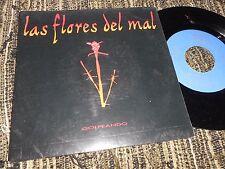 LAS FLORES DEL MAL GOLPEANDO 7'' 1991 PROMO DOBLE CARA AREA CREATIVA