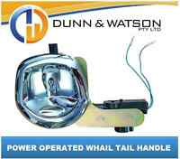 12 volt Power Operated Chrome Recessed Folding T Lock / Handle Drop T Whale Tail
