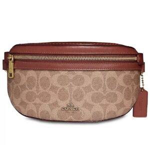 Coach Signature Fanny 39937 Tan Rust/Gold Belt Leather Pack