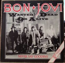 "BON JOVI 1987 Wanted Dead Or Alive UNIQUE PROMO EDITION! 12"" EP BRAZIL"