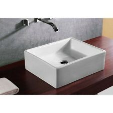 Caracalla Caracallaca4158-Nohole Ca4158-No Hole Ceramic Washbasin-Square and Ves