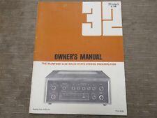 Mcintosh C 32 Vintage Preamp Preamplifier Original Owners manual