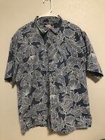Cooke Street Honolulu Men's Hawaiian Camp Shirt Size XL Cotton EUC