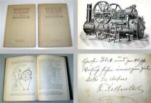 Der Müller u. der Mühlenbauer Handbuch in 2 Bänden 1907 mit Widmung Kettenbach