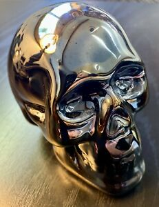 Chrome Skull made of Anodized Porcelain - Halloween Ritual - Man Cave!
